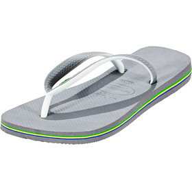 havaianas Brasil Mix Flips men steel grey/white/white